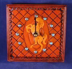 Rearing Horse Clock
