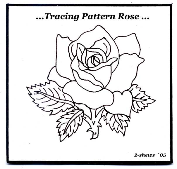 Rose carving pattern patterns and templates