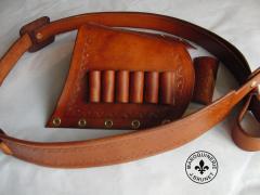 Lever Rifle Leather Set (sling, shellholder, lever wrap)
