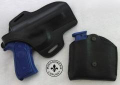 Beretta 92FS Saddle/Paddle Holster and Double Magazine Pouch