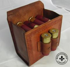 """Rustic Shell Pouch for 12ga Shell Box with """"Holy"""" Loops"""