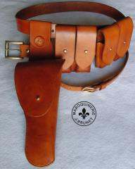 Colt 1911 Cavalry/Officer Holster, Dual Magazine Pouches and Belt Set