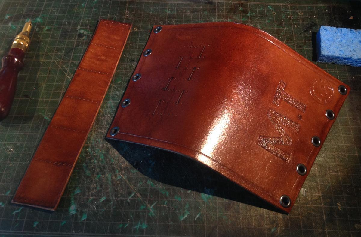 Rifle Buttstock Shellholder (before cartridge loops are stitched)