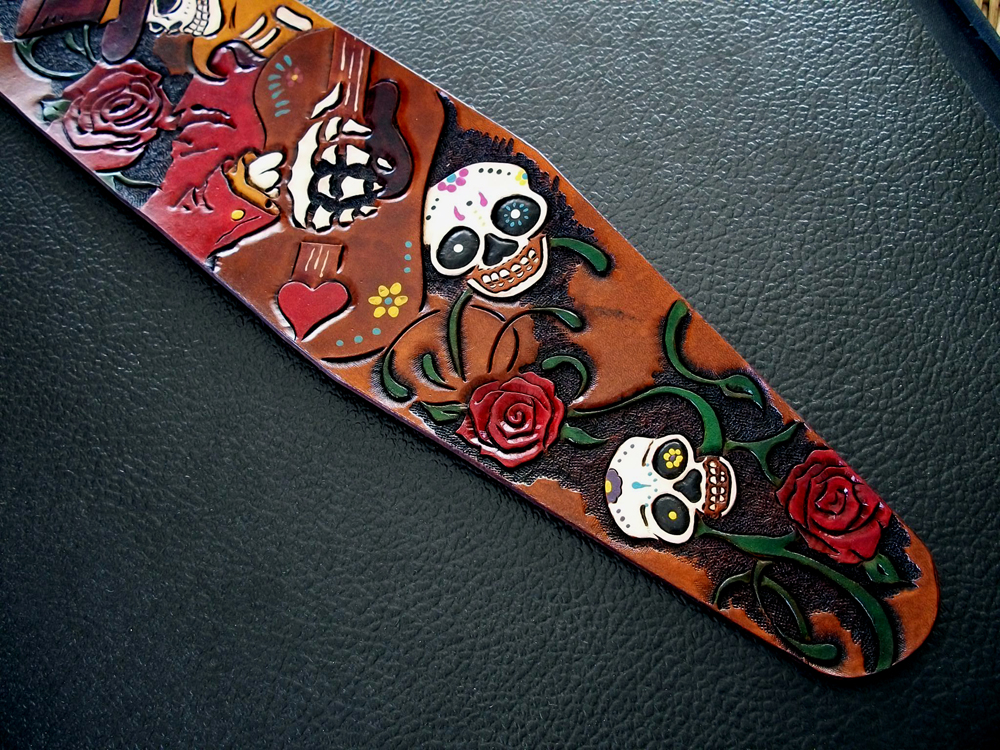 Day of the dead Guitar strap 1.jpg