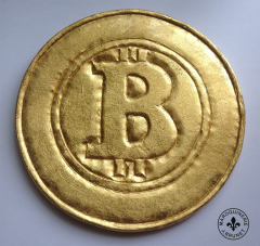 Bitcoin Wall Decoration (Gilded 24K Gold Leaf)