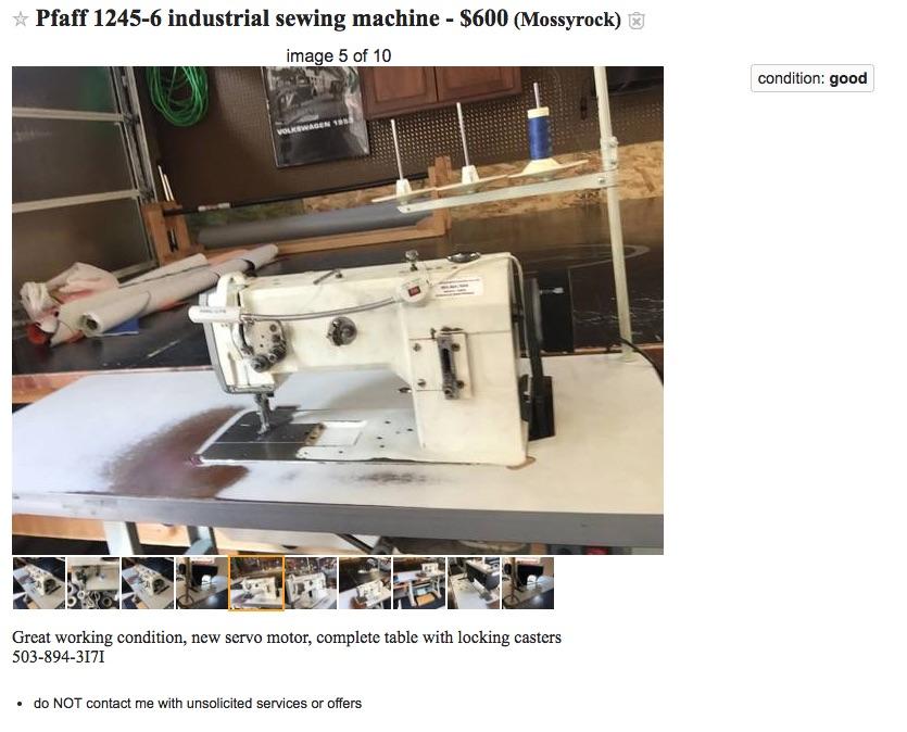 40 A Good Deal On Pfaff 40 With Servo Leather Sewing Machines New Pfaff 1245 Sewing Machine