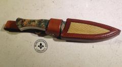 Dangler Knife Sheath With Snakeskin Inlay