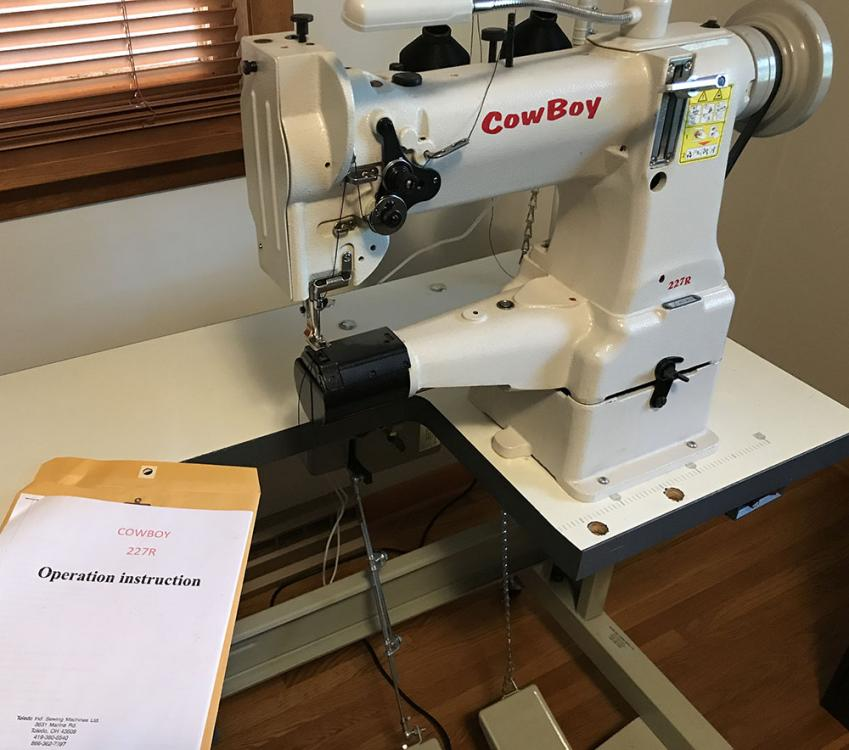 Cowboy Cb227r Medium Weight Leather Sewing Machine Old