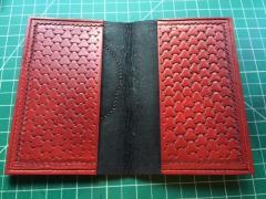 passport wallet in tri-weave