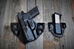 FN 40 snap on holster set