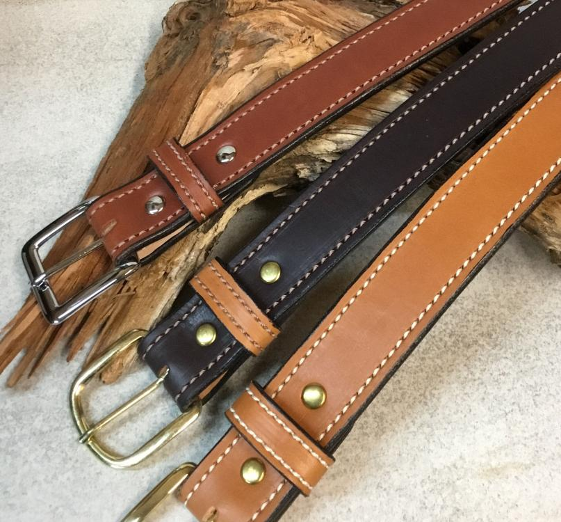 Double Layer  Belt Chestnut,Chocolate, Tan English Bridle.jpg