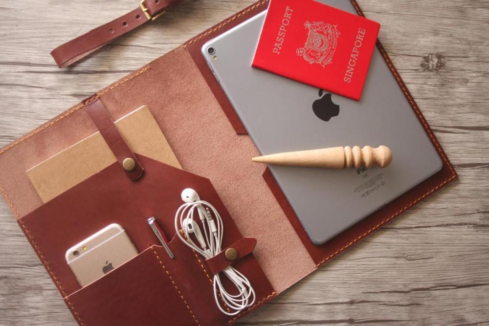 Burgundy MacBook leather holder.jpg